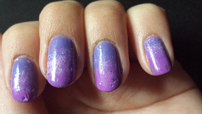 purple ombre gradient |march 27 2014 | nailart