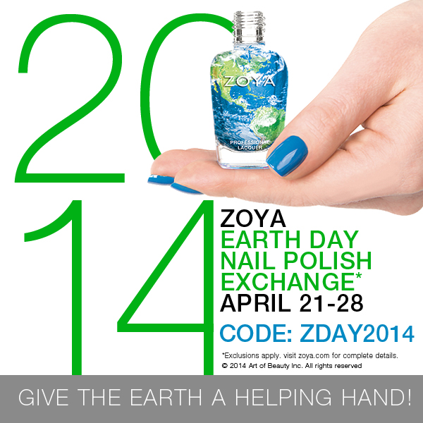 2014 Zoya Earth day nail polish exchange