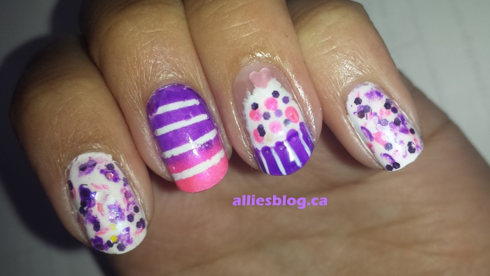 cupcake nails|august 13 2014|alliesblog.ca