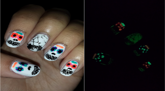 halloween nails 2014 | sugar skull nails |nailpolishcanada.com