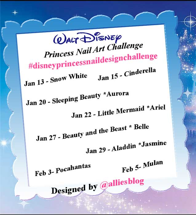 #disneyprincessnaildesignchallenge|alliesblog|disneyprincess|disneyprincessnailart