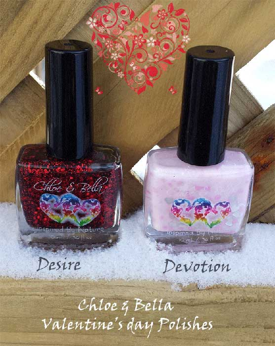 chloe & bella |valentines day nail polish |nail polish swatches | desire | devotion