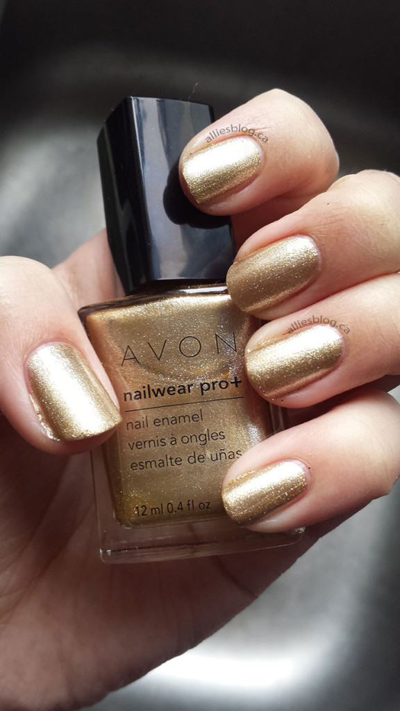 avon nail wear pro + nail polish | golden vision