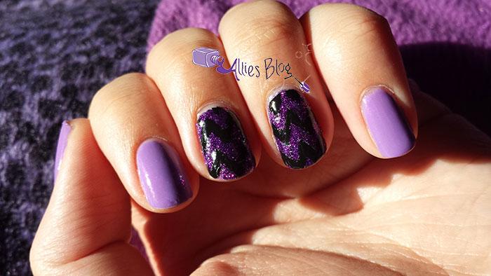 zoya carter   purple and black chevron   chevron nails   zoya