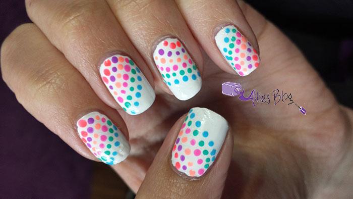1980's nails   montlhly #naillinkup   neon nails   rainbow nails