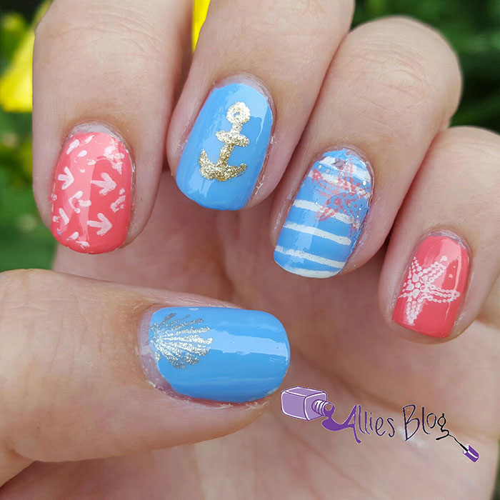 nautical nail art tutorial using born pretty store stamping plates