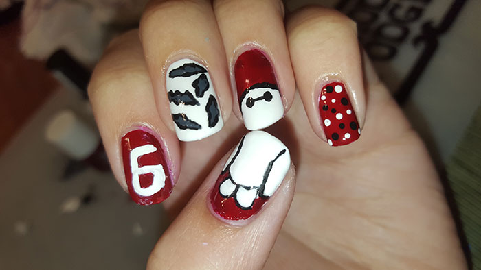 big hero 6 | inspired by a movie | 31 day challenge | #31DC2015 | big hero 6 nails