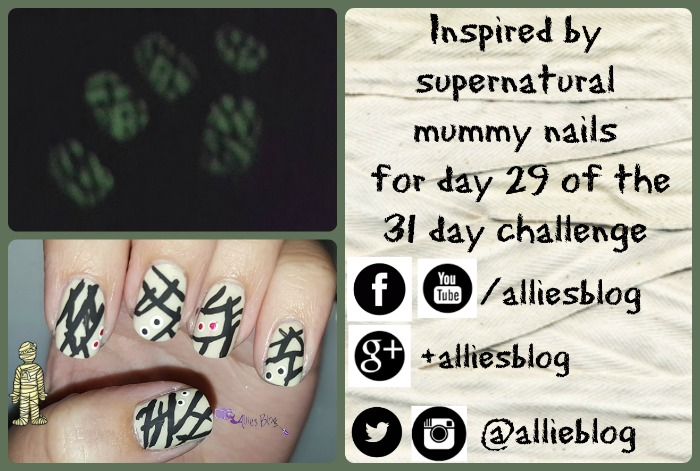 inspired by supernatural | 31 day challenge |#31DC2015 | glow in the dark nails