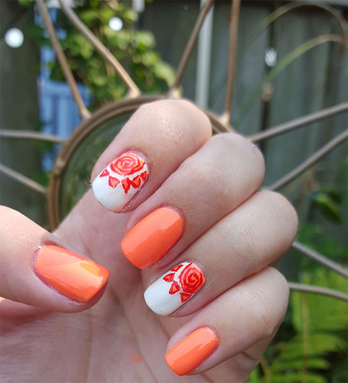 31 day challenge | #31dc2015 | day 2 orange nails